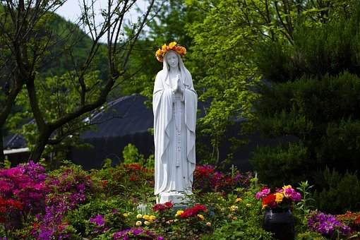 Mary, Statue, Garden, Mother Mary, Sculpture, Art