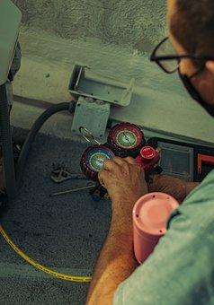 Man, Mask, Maintenance, Work, Air Conditioner, Worker