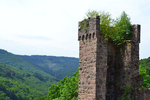 Castle, Ruin, Middle Ages, Wall, Mystical, Building