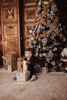 Christmas Tree, Christmas, Child, Toddler, Kid, Boy