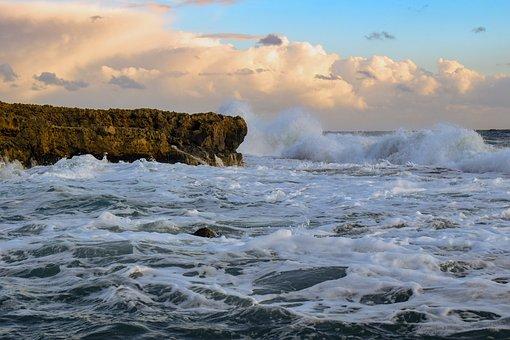 Waves, Crashing, Sea, Water, Splash, Nature, Coast