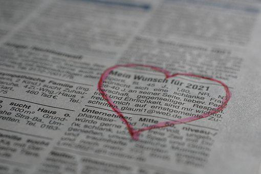 Dating Advert, Dating, Newspaper, Ad, Lonely Hearts Ad