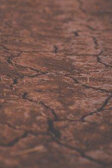 Cracked Soil, Soil, Ground, Dry Soil, Drought, Land