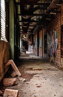 Factory, Building, Abandoned, Old, Ruin, Graffiti