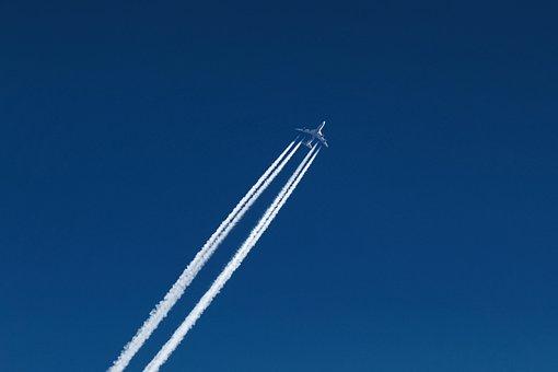 Aircraft, Contrail, Sky, Flight, Plane