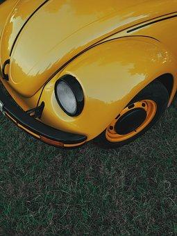 Car, Vw, Volkswagen, Vehicle, Auto, Classic, Hippie