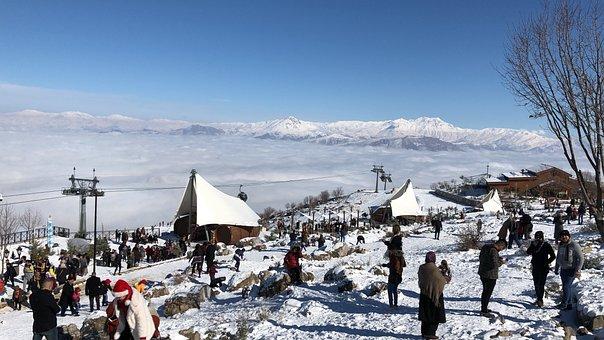 Iraq, Diyala, Snow, Erbil, Road, People, City, Pavement