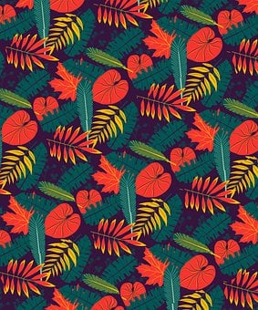 Leaves, Pattern, Wallpaper, Seamless