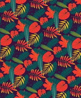 Leaves, Pattern, Wallpaper, Seamless