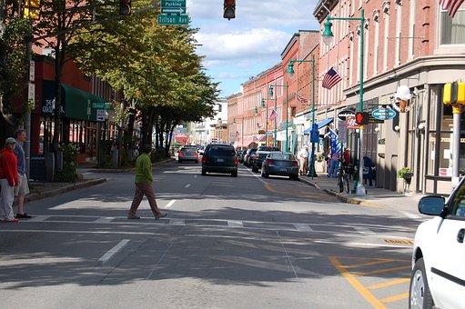 Maine, Rockland, Main Street, New England
