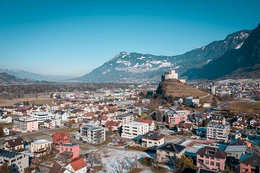 Mountains, Buildings, Village, Castle, Fortress, Museum