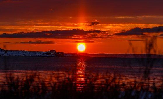 Sunset, Beach, Sea, Sky, Ocean, Sunrise, Dusk, Twilight