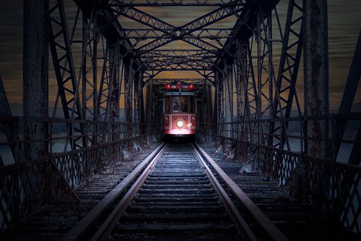 Train, Bridge, Railroad, Road, Old, Steam Locomotive
