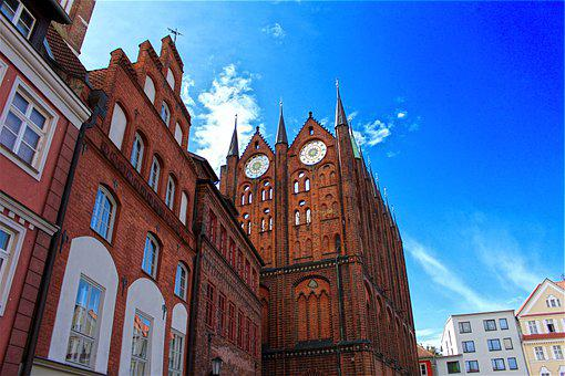 Stralsund, Town Hall, Buildings, Architecture, Facade