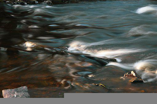 River, Stream, Rocks, Flow, Long Exposure, Water