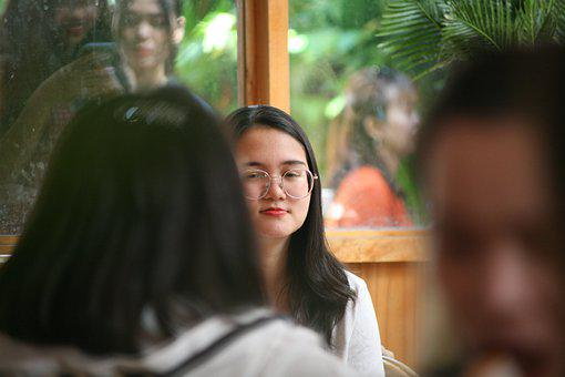 Girl, Female, Young, Face, Glasses, Vietnamese, Vietnam