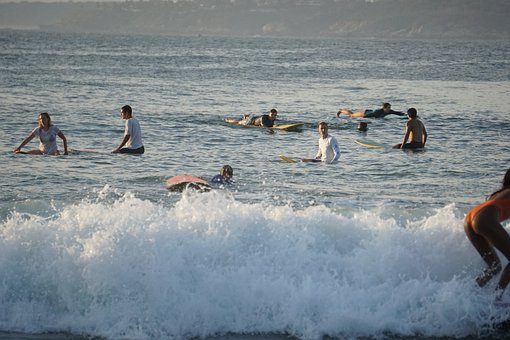 Surfers, Waiting For Waves, Mexico, La Punta