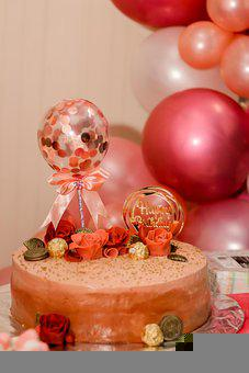 Cake, 15 Years, Birthday, 15, Celebration, Teen, Rosa