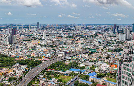 Bangkok, City, Buildings, Panorama