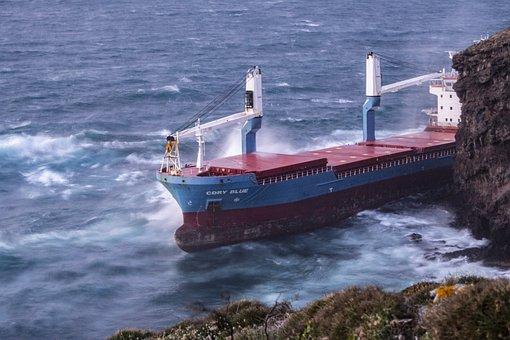 Cdry Blue, Cargo Ship, Sea, Ship