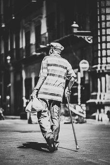 Man, Street, City, Old, Male, Urban, Person, Elderly