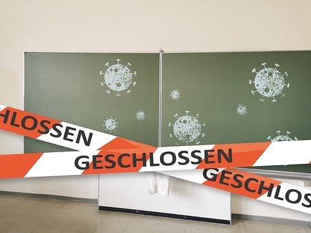 School, Board, Closed, Locked, Teaching, Blackboard