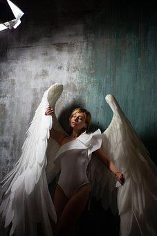 Woman, Angel, Wings, Fantasy, Girl With Wings, Costume