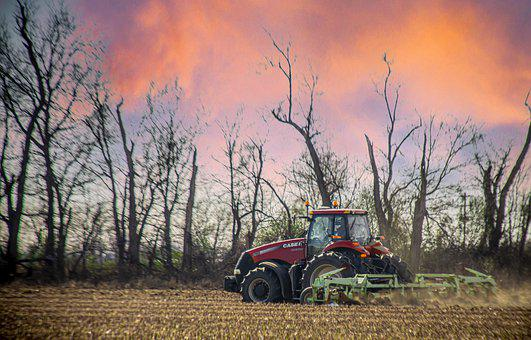 Tractor, Cultivation, Farm, Field, Land, Farmland