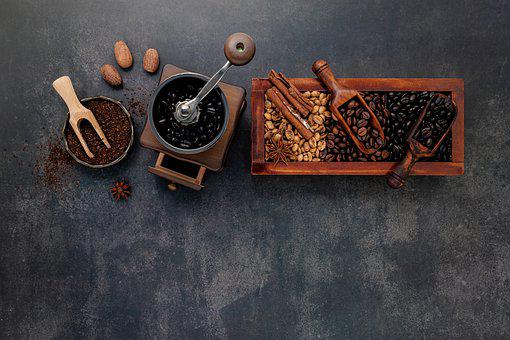 Coffee Beans, Flat Lay, Background, Arabica