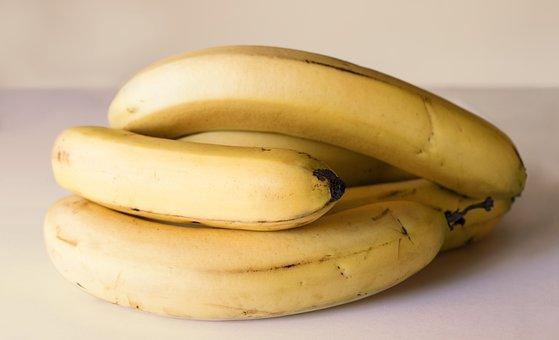 Bananas, Fruits, Sweet, Ripe, Fresh, Produce, Harvest