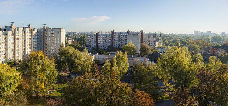Buildings, Complex, Neighborhood, City, Dawn, Home