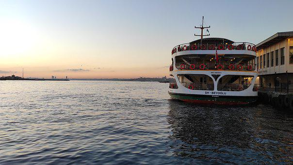 Ship, Transportation, Istanbul, Kadıköy, Dock, Shipping