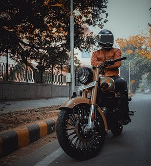 Royal Enfield, Classic Bike, Man, Ride, Motorcycle