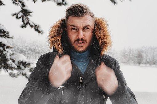 Man, Male, Model, Snow, Portrait, Winter, Cold, Nature