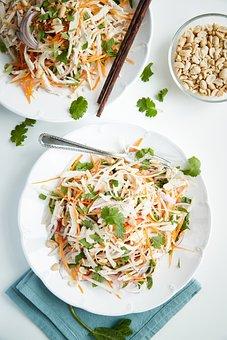 Salad, Meat, Food, Dish, Meal, Chicken, Peanuts