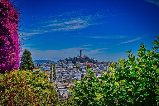 San Francisco Tower, Telegraph Hill, Usa, Landmark