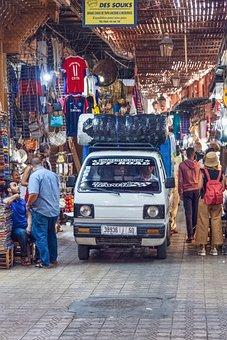 Souk, Market, Vehicle, Bazaar, Stores, Shops, Pavement