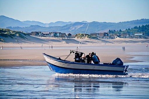Boat, Ocean, Fishing, Fishermen, Water, Fish, Beach