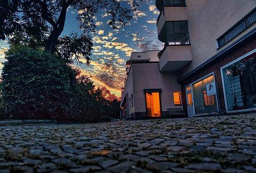 Berlin, Prenzlauerberg, Sunset, Business, Building