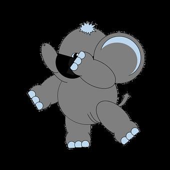 Cute, Baby, Kids, Cartoon, Elephant, Animal, Sunglasses