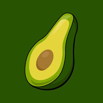Avocado, Half, Cross Section, Guacamole, Food, Icon