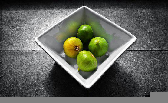 Figs, Fruit, Still Life, Colour Splash, Food, Sweet