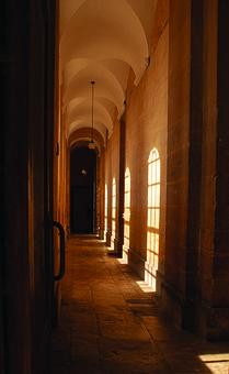 Dark Corridor, Stone Floor, Hallway, House, Old, Gloomy