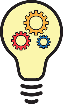 Idea, Bulb, Gears, Innovation, Thinking, Strategy