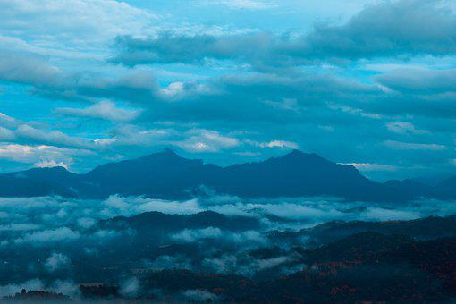 Mountain, Cloudy, Nature, Landscape, Mountains, Valley