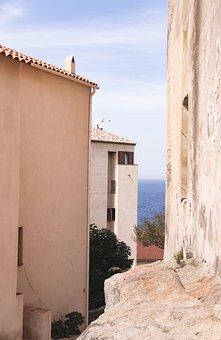 Calvi Citadel, Fortress, Sea, Walls, Citadel, Landmark