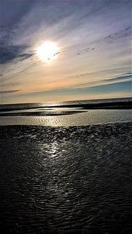 Abendstimmung, Wadden Sea, Watts, North Sea, Coast