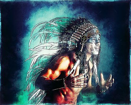 Man, Indigenous, Native, Feathers, Head Set, Male
