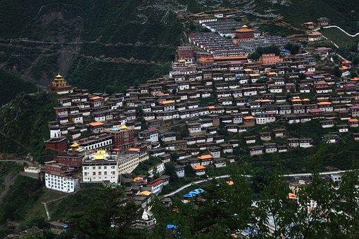 Buildings, Houses, Village, Town, Road, Hills