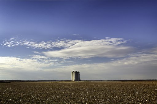 Farm, Field, Silos, Agriculture, Countryside, Rural